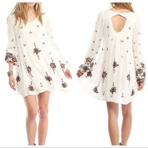 Free People | Oxford White Embroidered Boho Dress
